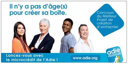 photo Banque Populaire, partenaire Jeune de la Campagne Adie « Il n'y a pas d'âge(s) pour créer sa boîte »