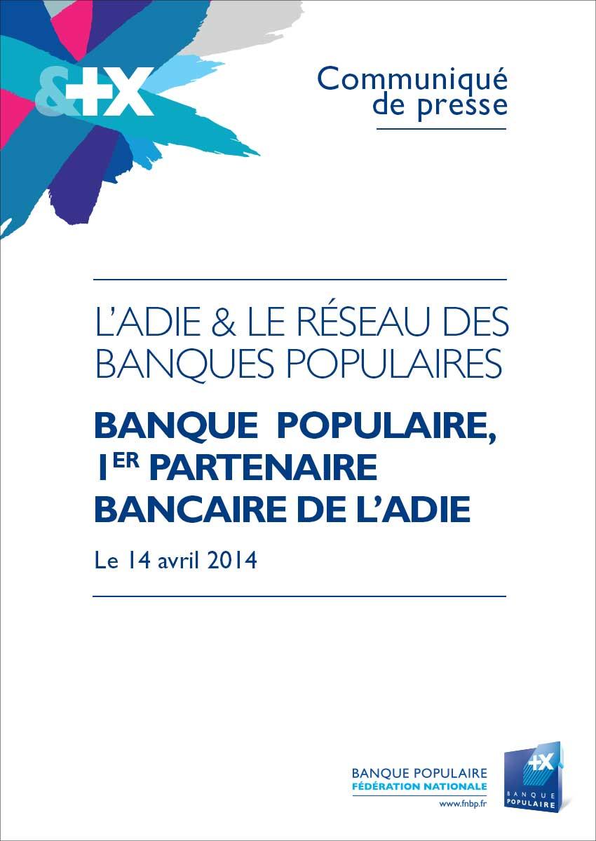 Communiqué de Presse - Banque Populaire 1er partenaire bancaire de l'Adie
