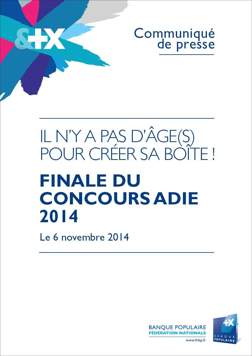 Communiqué de Presse - Finale du concours Adie 2014