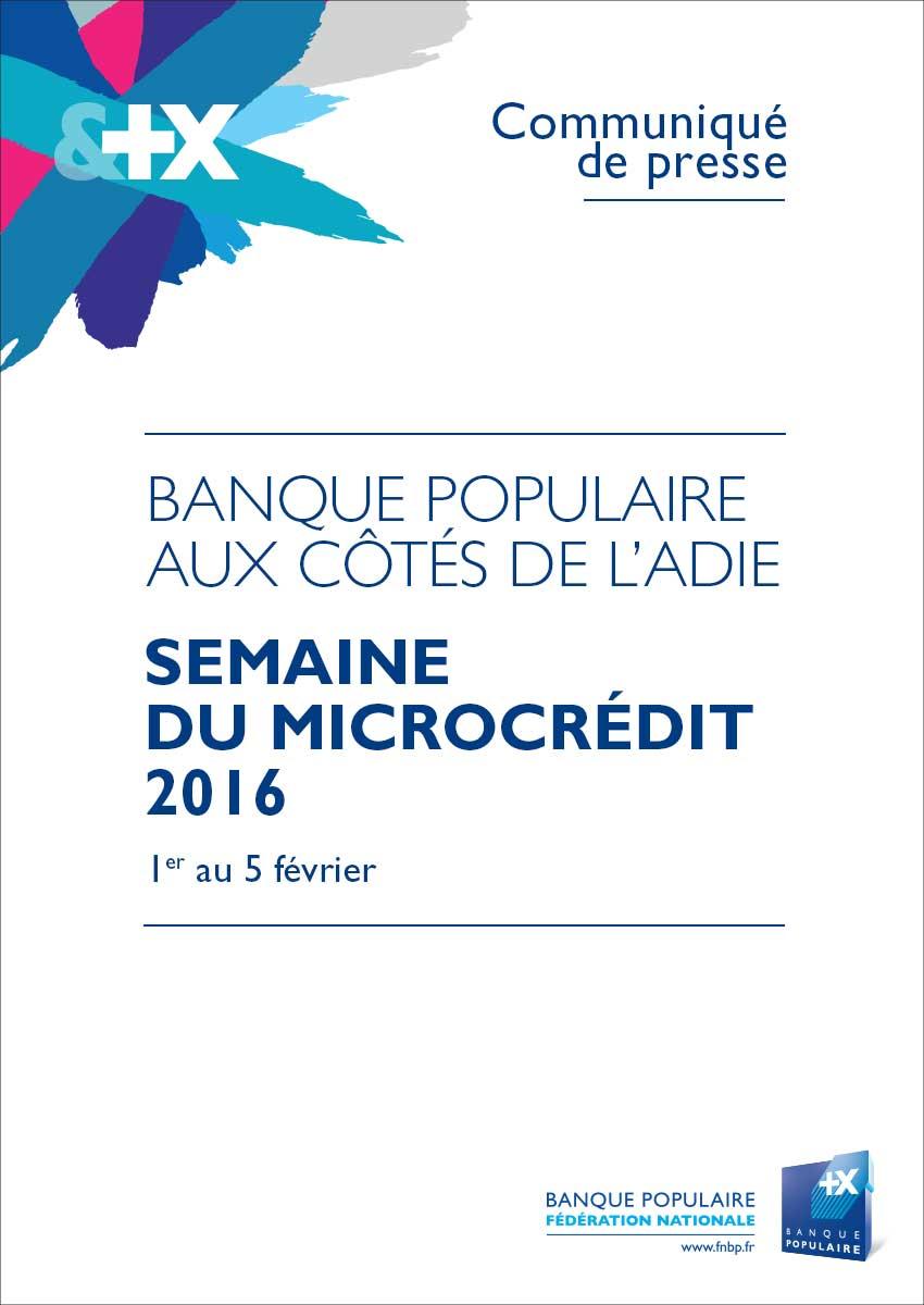 Communiqué de Presse Semaine du microcrédit 2016