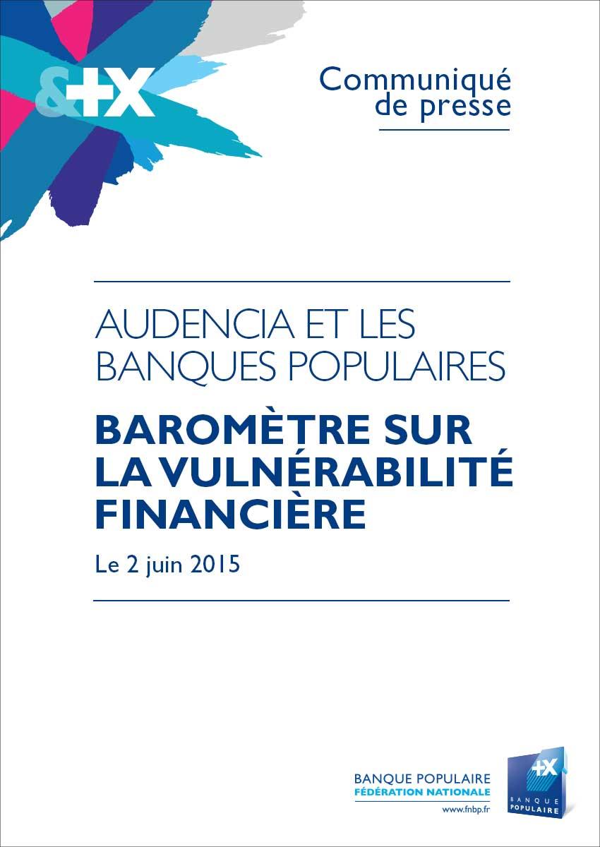 Communiqué de Presse Baromètre Audencia Banque Populaire
