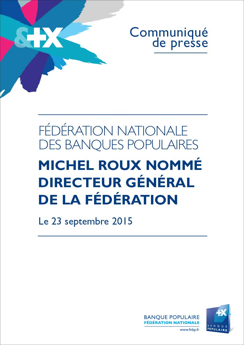 Communiqué de Presse - Michel Roux Directeur général de la FNBP