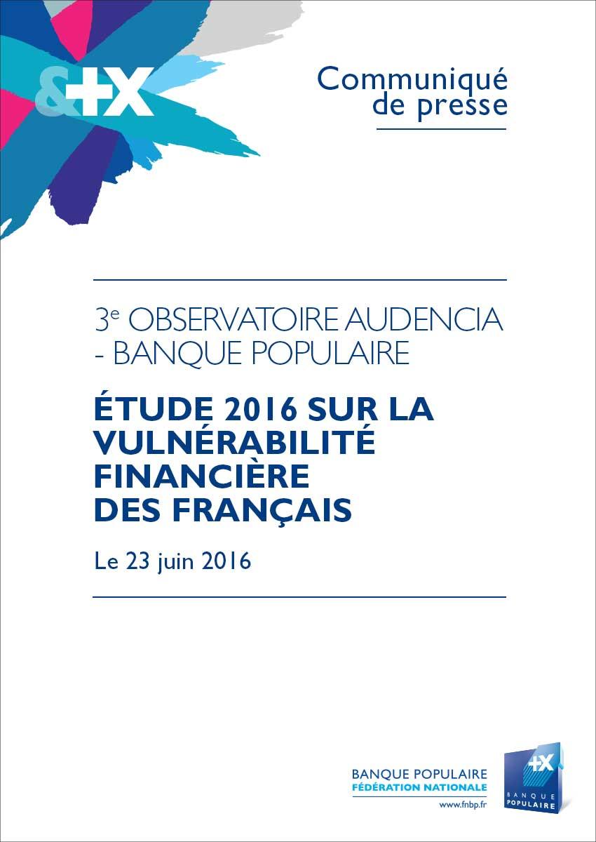 Communiqué de presse - 3e Observatoire Audencia - Banque Populaire