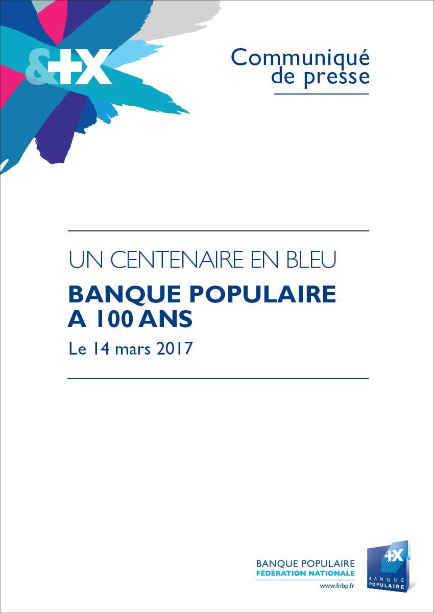 Communiqué de Presse Centenaire des Banques Populaires