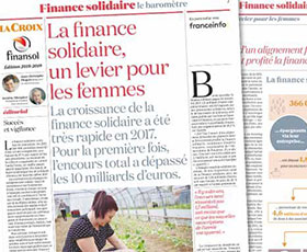 photo Forte progression de la finance solidaire en 2017
